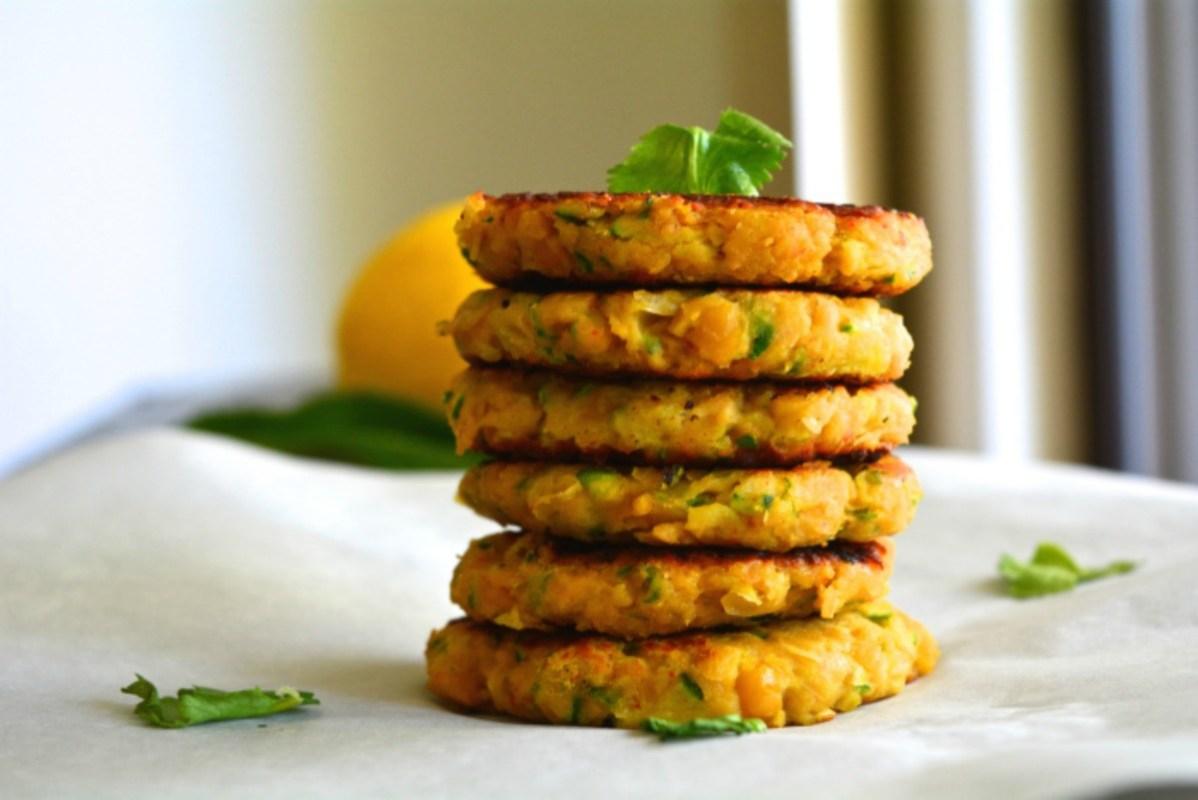 Vegan Zucchini Chickpea Fritters