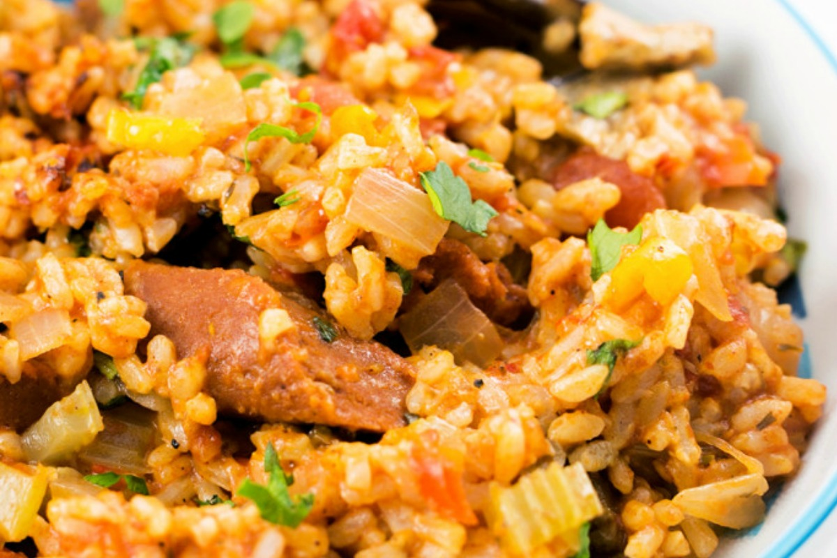 30 of your favorite southern dishes made vegan yall one green easy cajun jambalaya vegan forumfinder Image collections