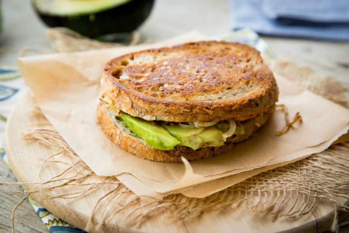 Avocado Pumpkin Panini With Caramelized Onions [Vegan, Gluten-Free]