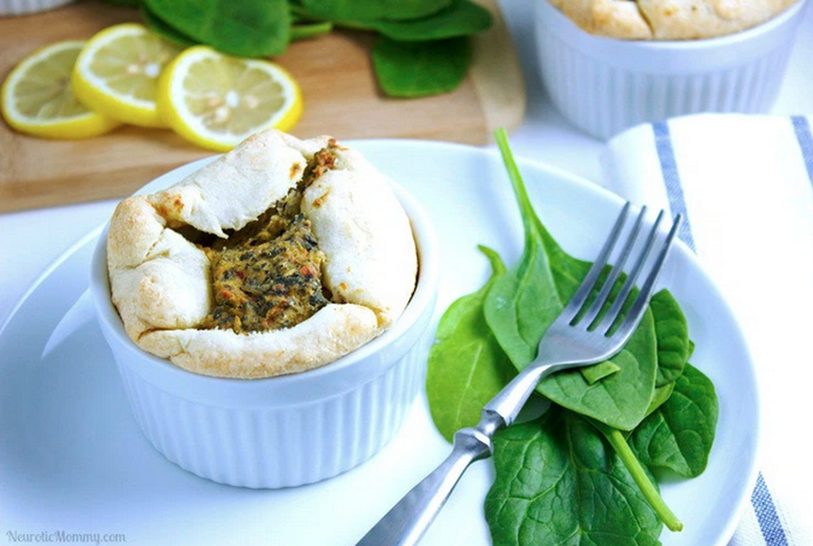 Vegan Spinach and Artichoke Soufflé