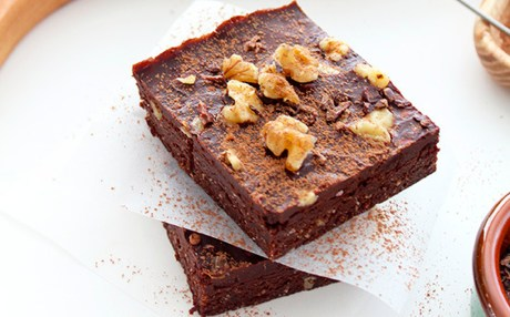 Easiest-Ever, Ultra-Decadent Raw Chocolate Walnut Brownies [Vegan, Gluten-Free]