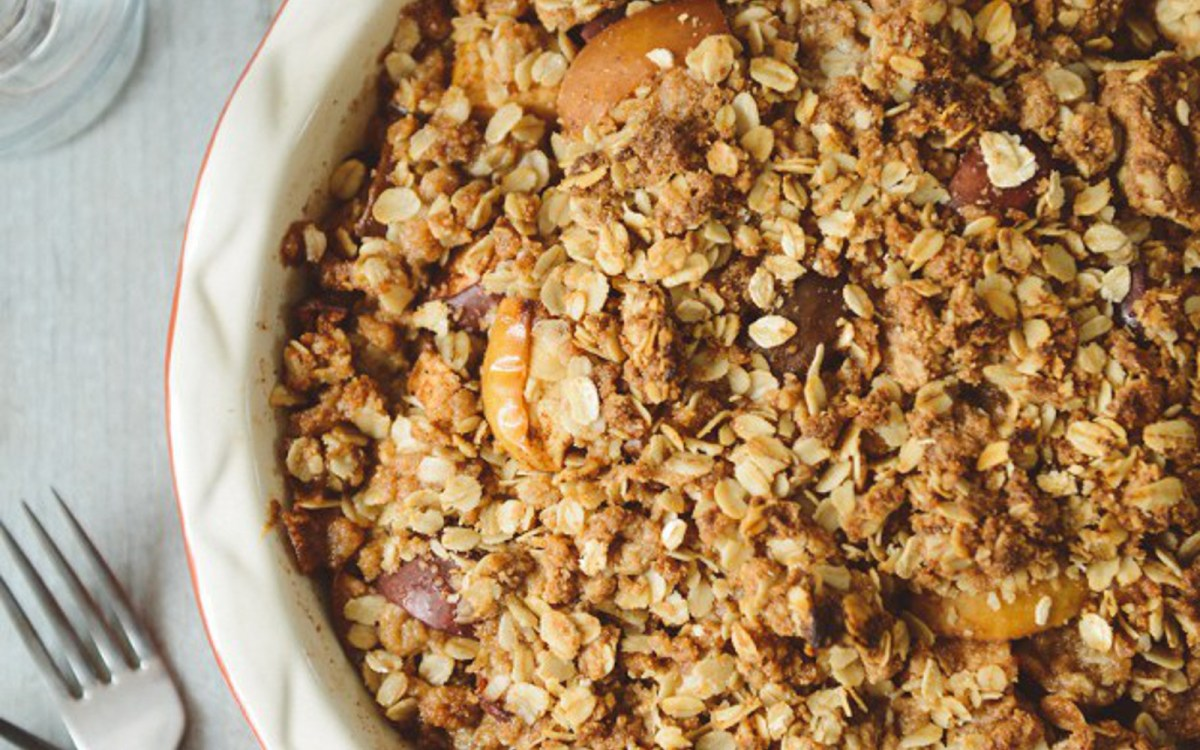 Pear and Apple Oat Crisp