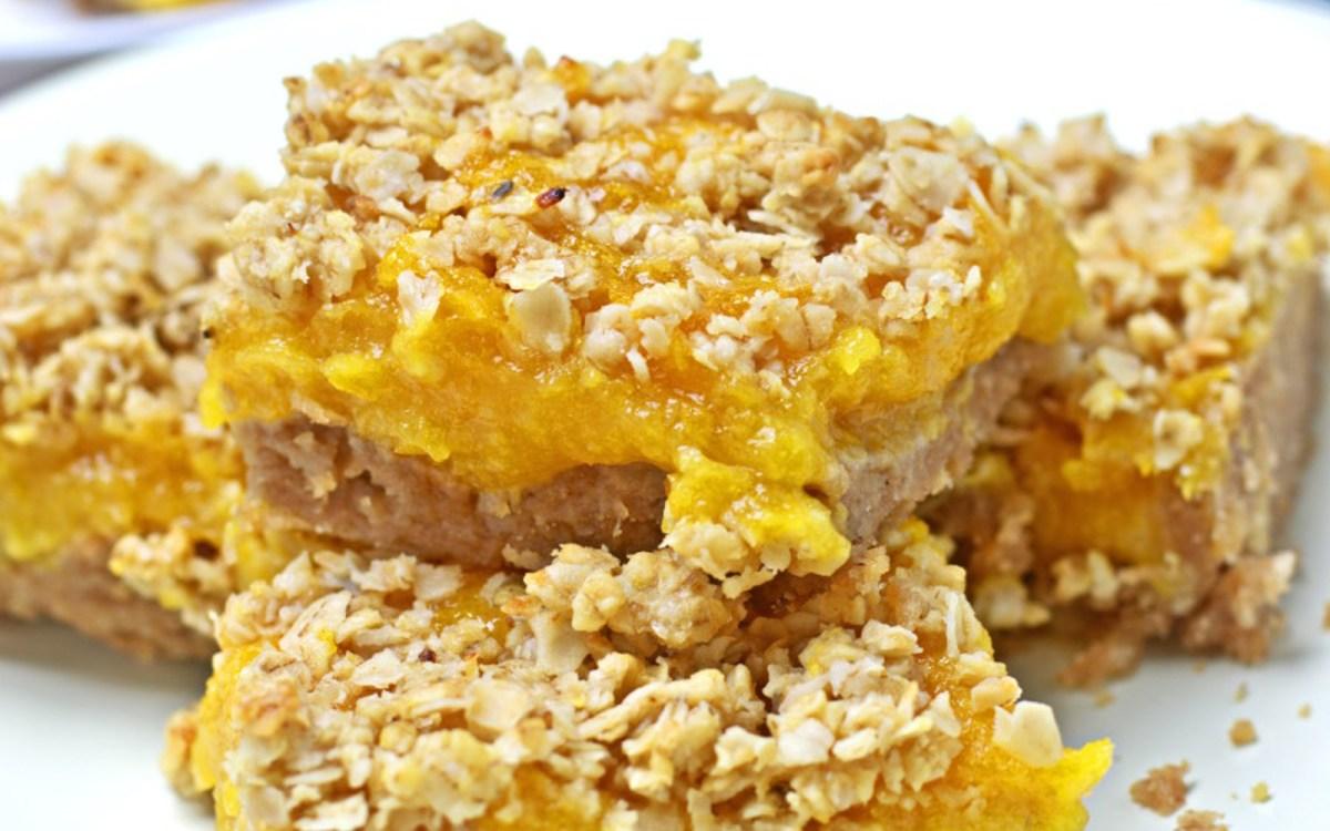vegan apricot cookie bars