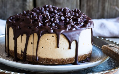 Chocolate-Covered Mocha Cheesecake