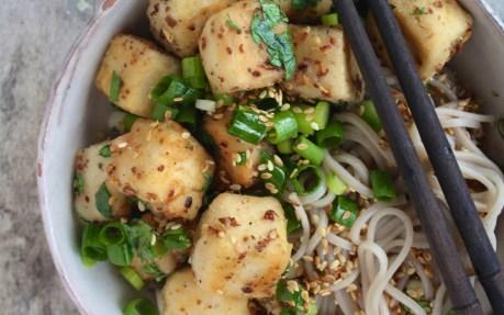 Szechuan Tofu With Soba Noodles