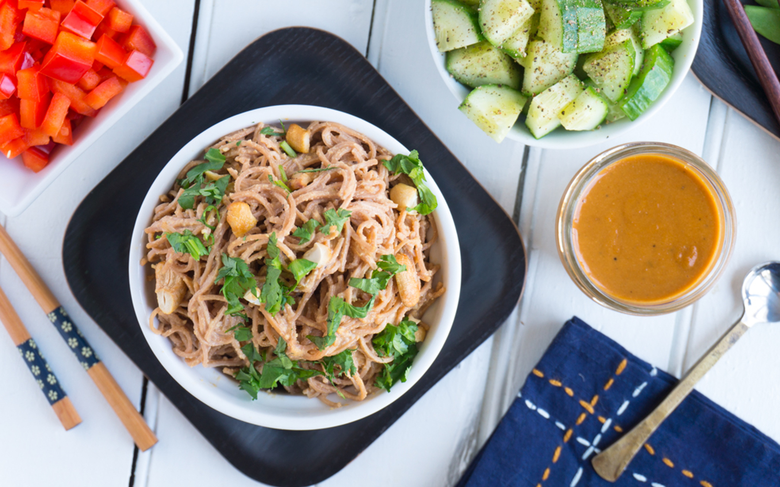 Cashew Cream Noodle Salad 3