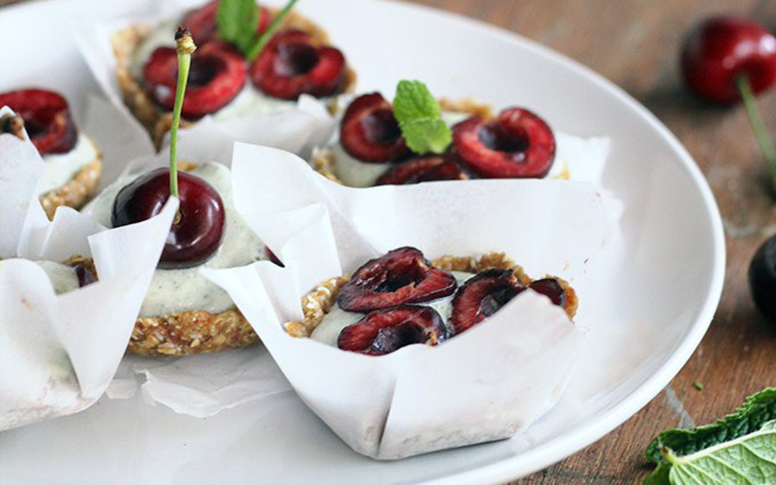 No Bake Mini Cherry Tart
