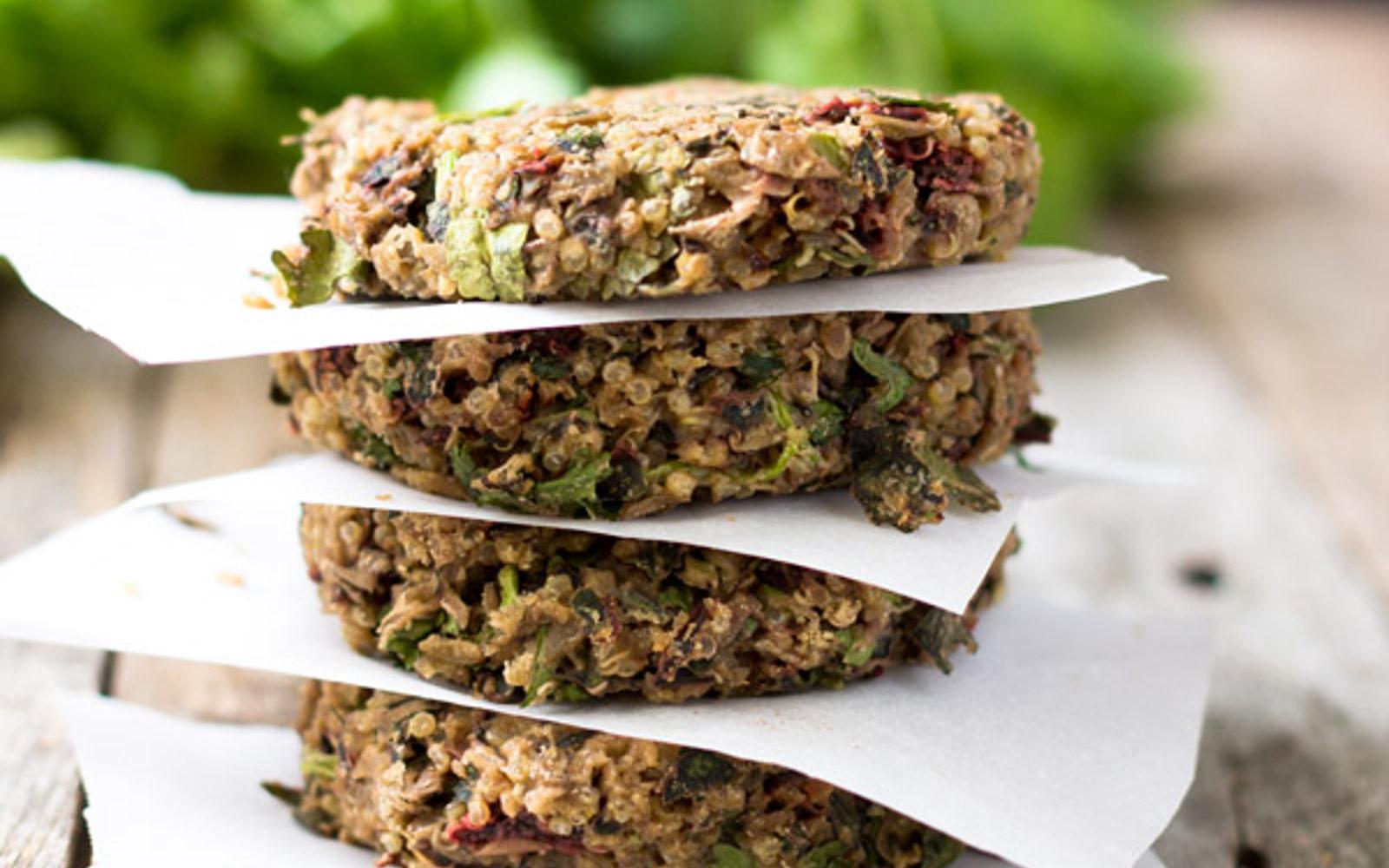 swiss chard lentil quinoa burgers
