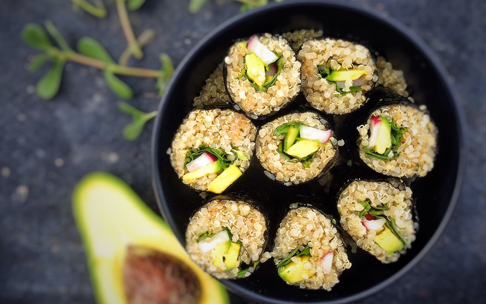 Quinoa Sushi With Wild Herbs 1