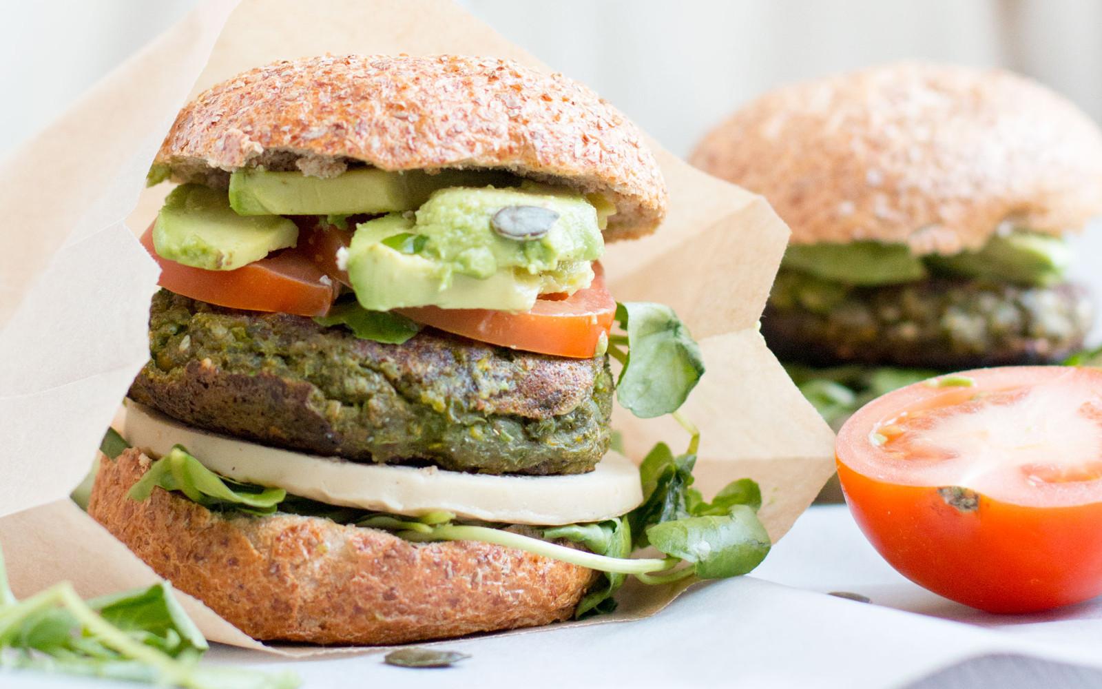 Spring Pea Veggie Burger