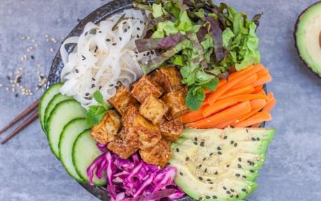 Banh Mi Bowl With Sticky Tofu