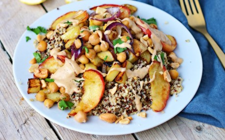 Skillet Potatoes With Chickpeas and Apples