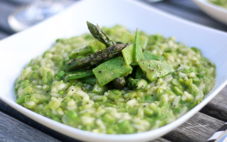 Spring Pea and Asparagus Risotto 2