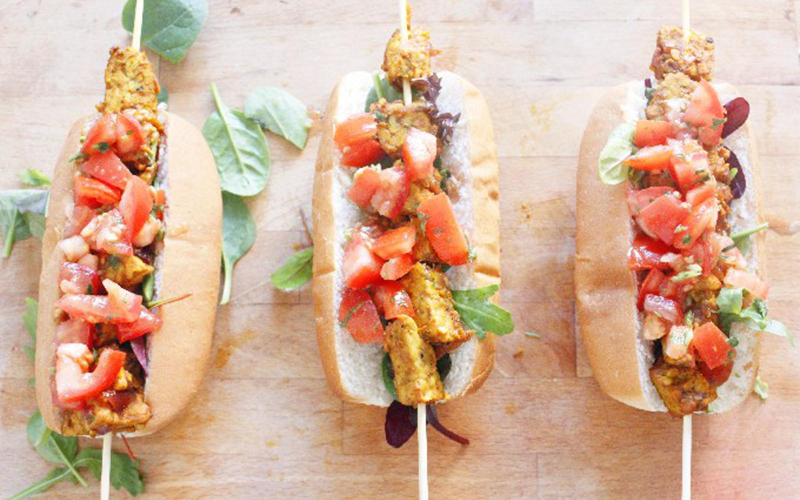Tempeh Kebab Dogs