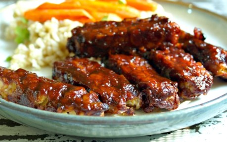 Sticky Baked BBQ Tempeh Strips [Vegan]