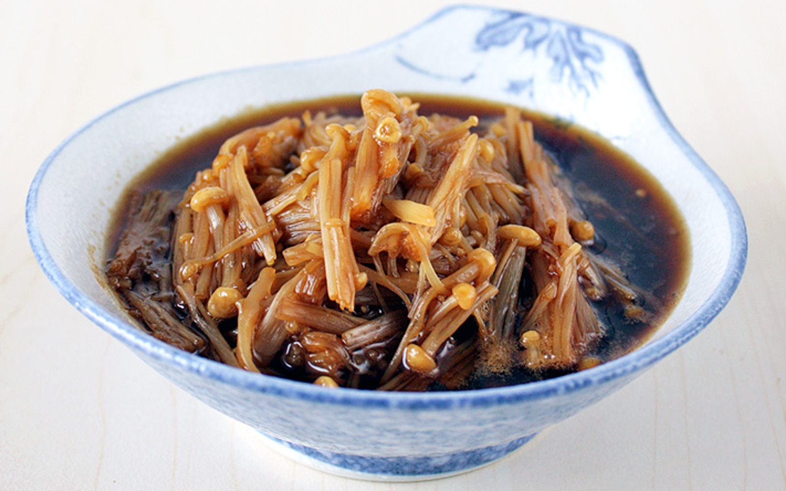 Nametaki: Enoki Mushrooms in Mirin and Soy Sauce