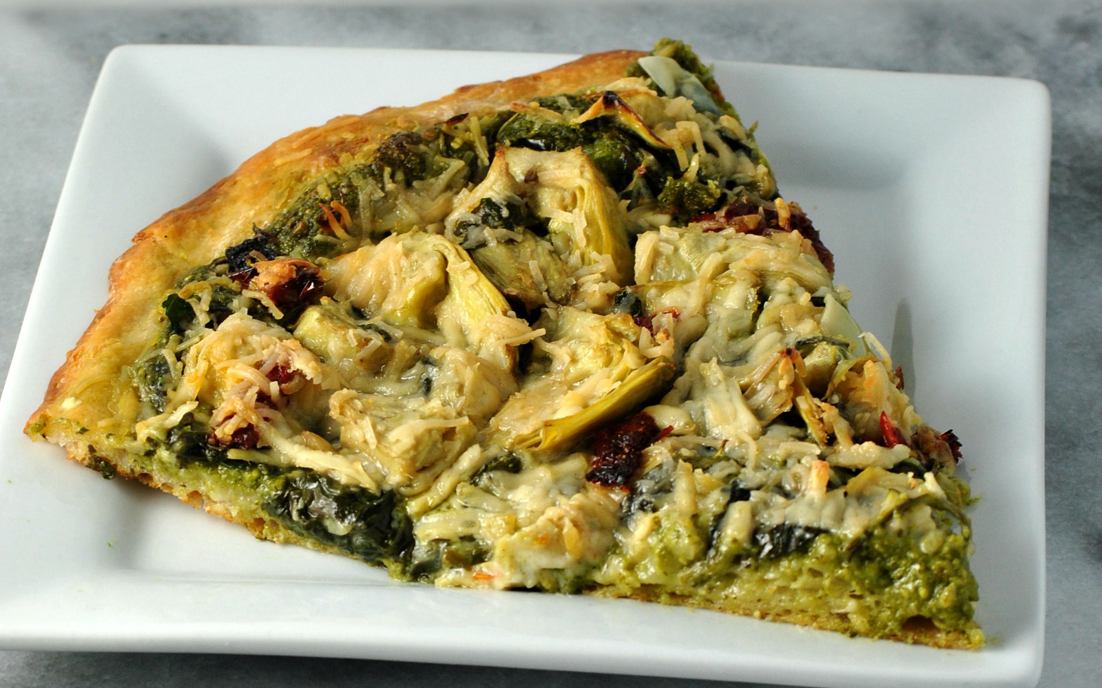Spinach and Artichoke Pizza