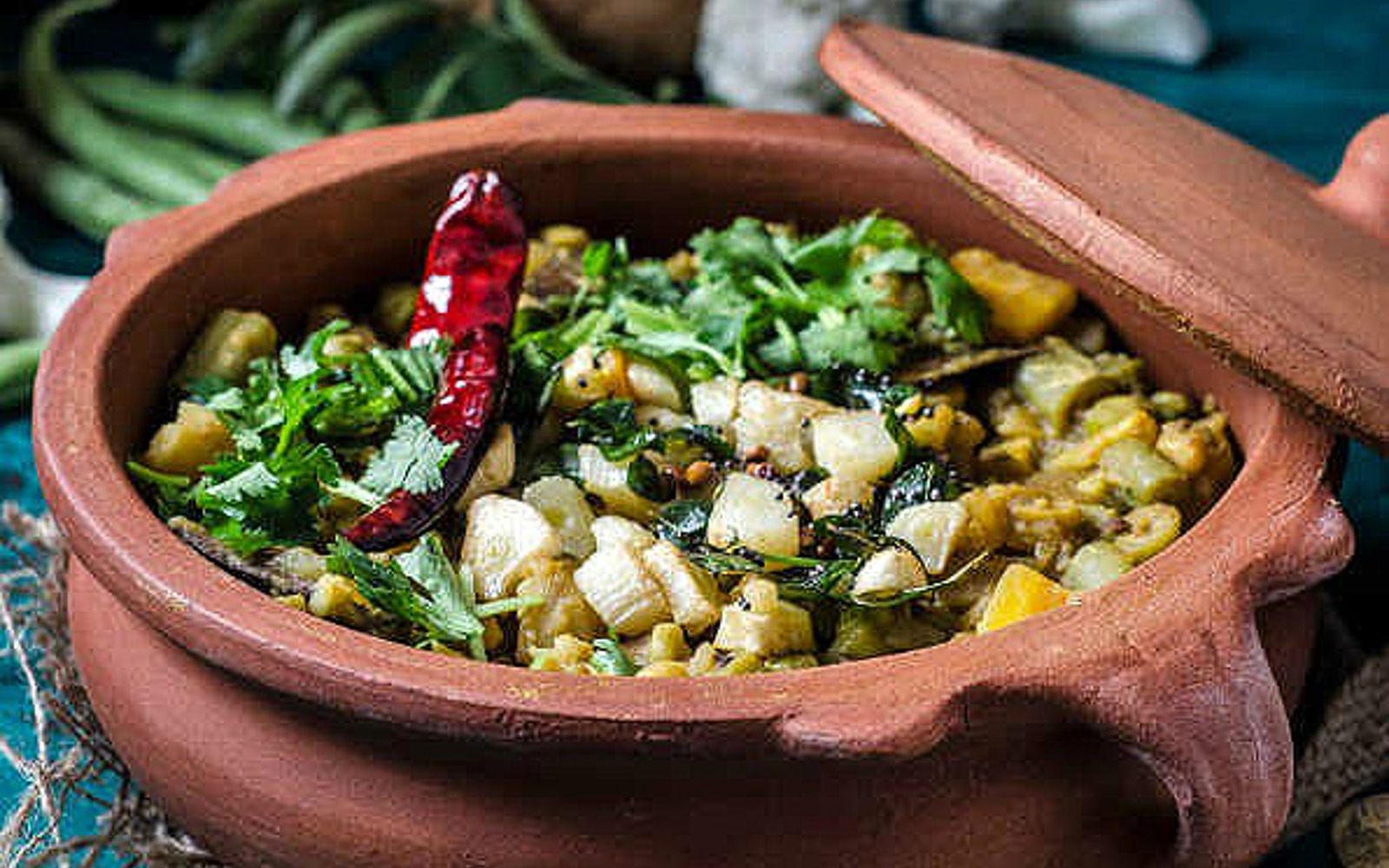 Vegan Protein-Rich Veggie and Lentil Dalcha Curry