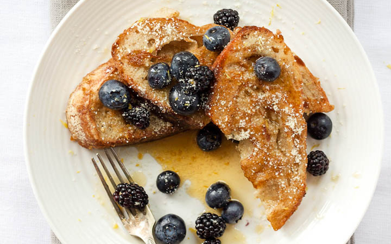 Almond Cardamom and Vanilla French Toast