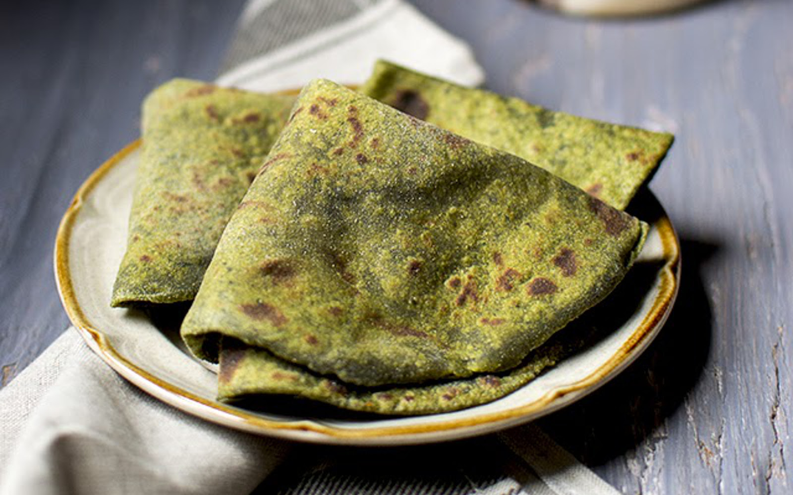 Avocado Spinach Roti