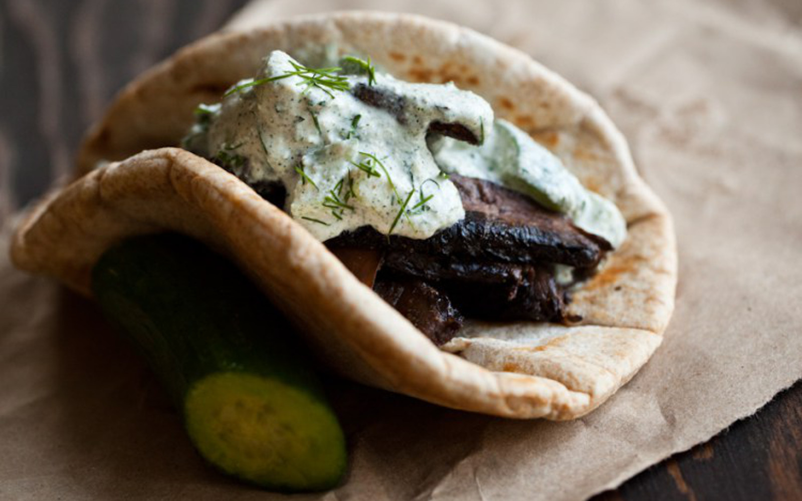 Portobello Gyros With Hemp Tzatziki 1