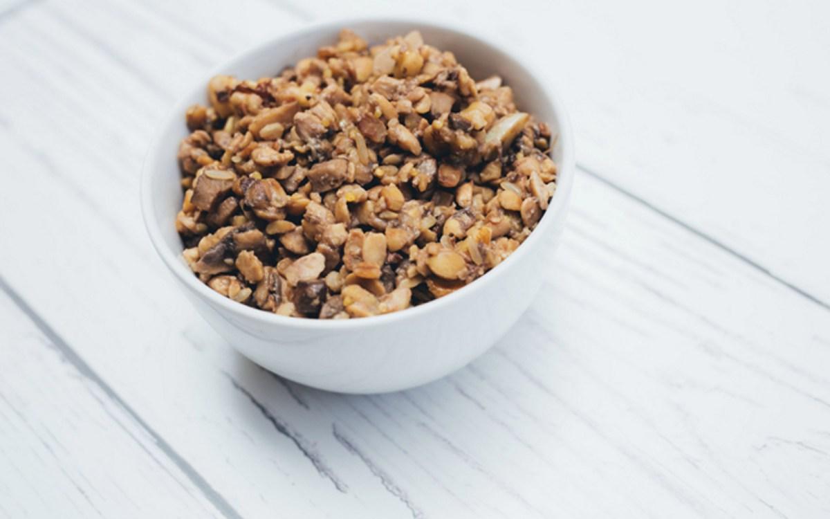 Tempeh Mushroom Walnut Crumbles
