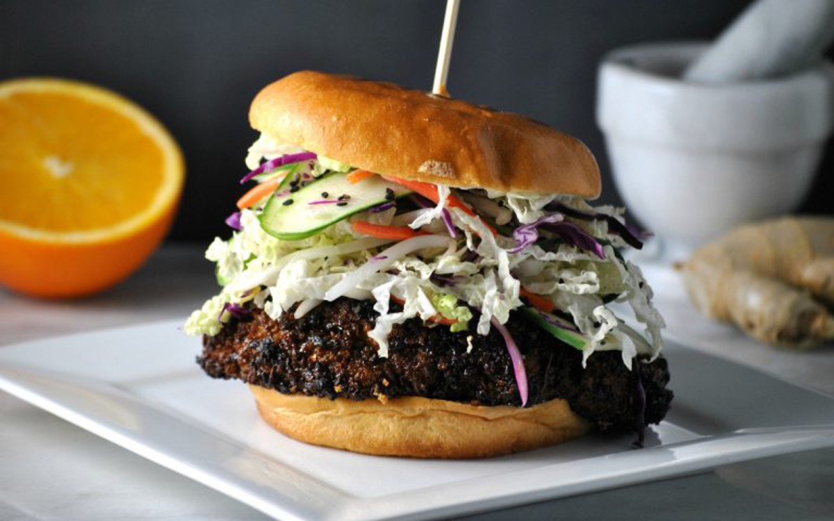 Asian Cauliflower Sandwiches With Pickled Slaw [Vegan]