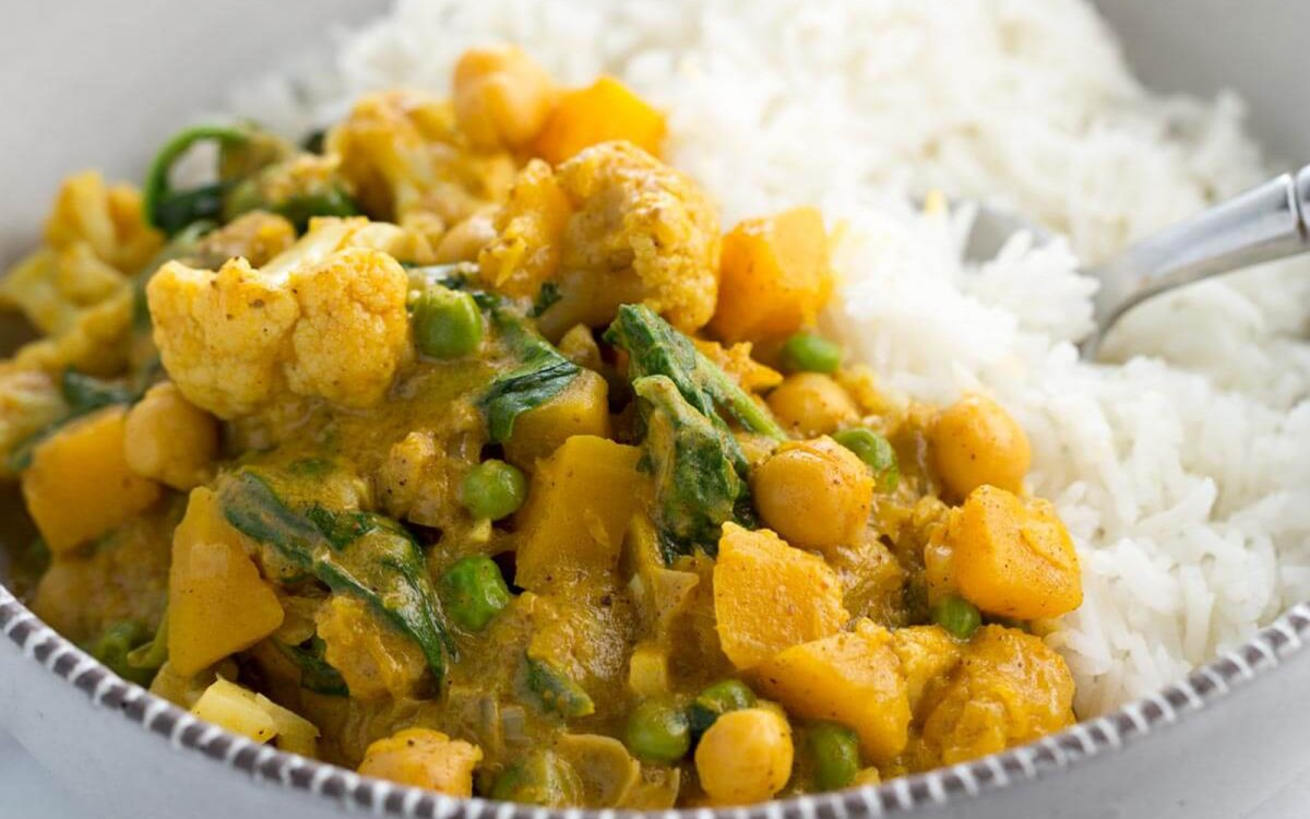 Chickpea and Cauliflower Butternut Squash Curry