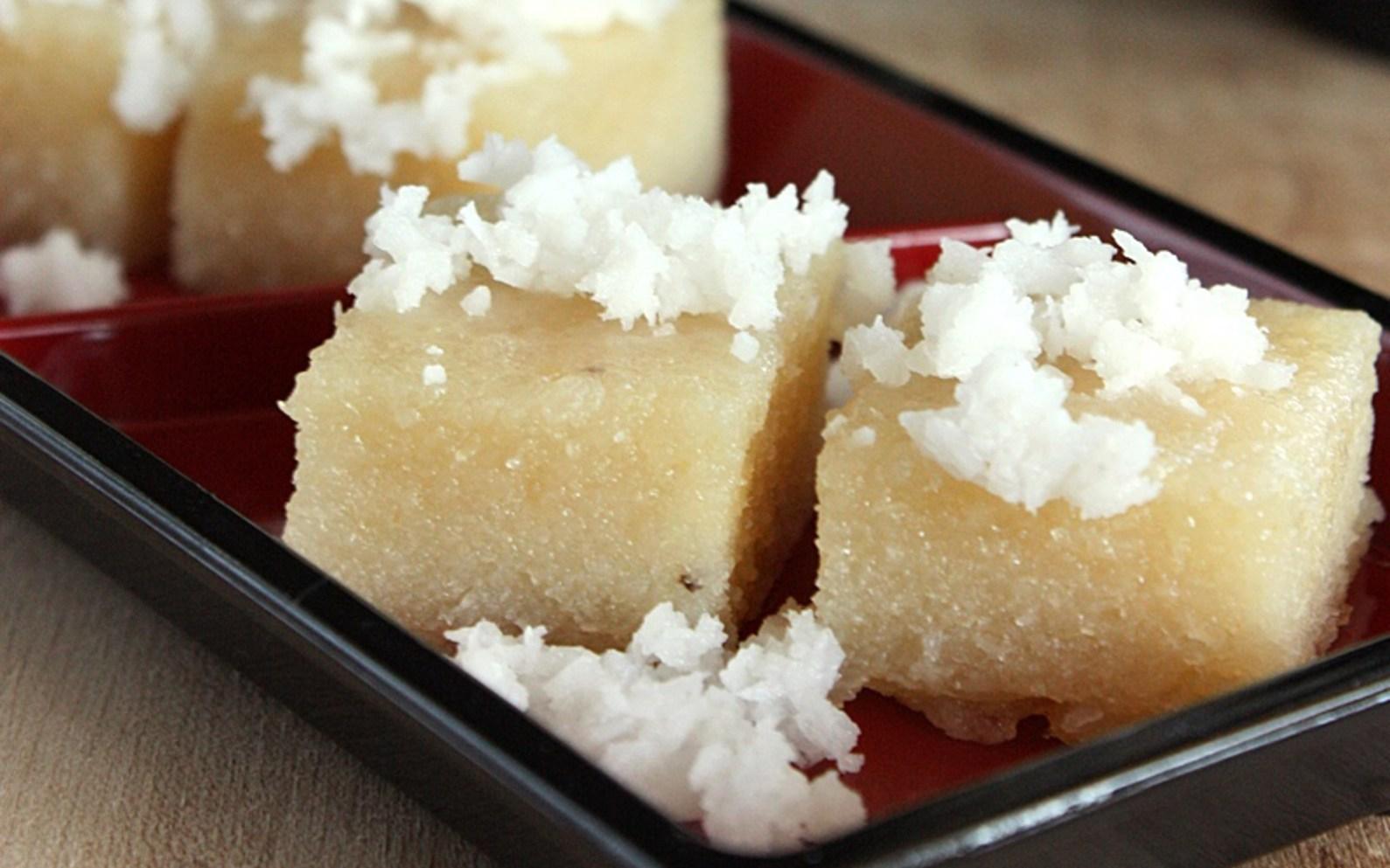 Ongol Singkong Indonesian Steamed Cassava Cake Vegan Gluten Free One Green Planet