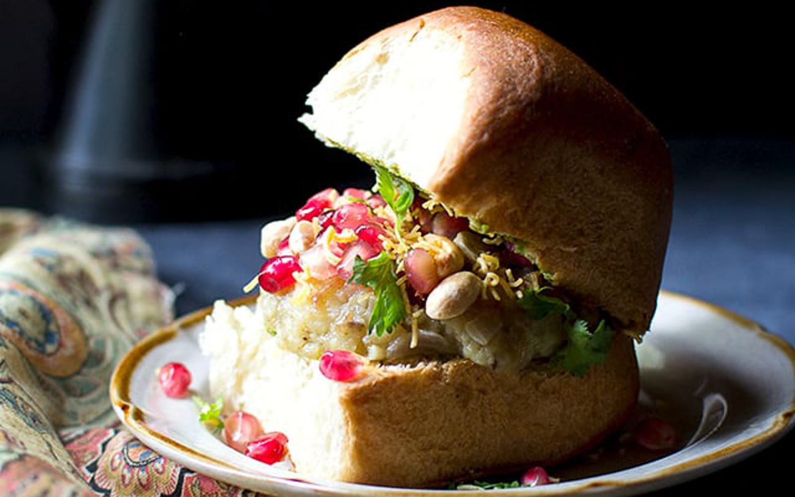 Dabeli Indian Potato and Chutney Sandwich