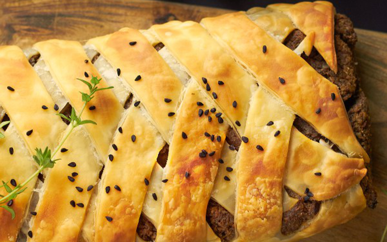 Pecan and Mushroom Wellington 2