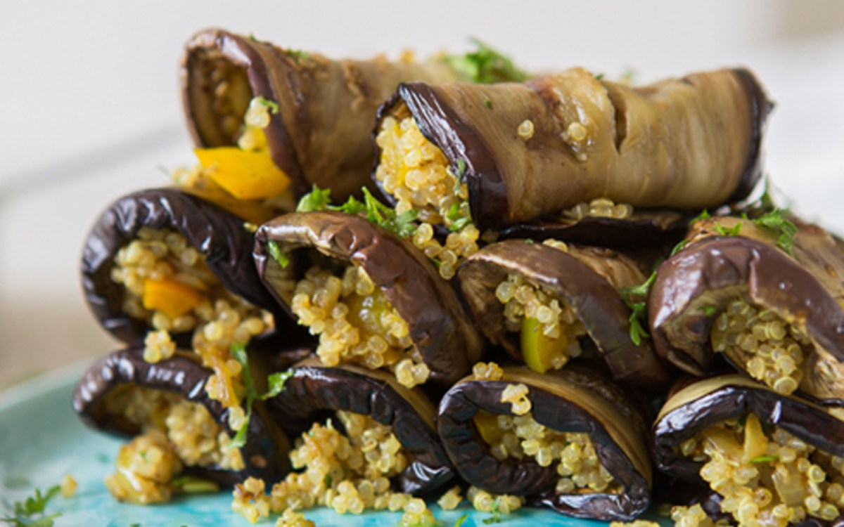 Spiced Quinoa and Eggplant Rolls 1