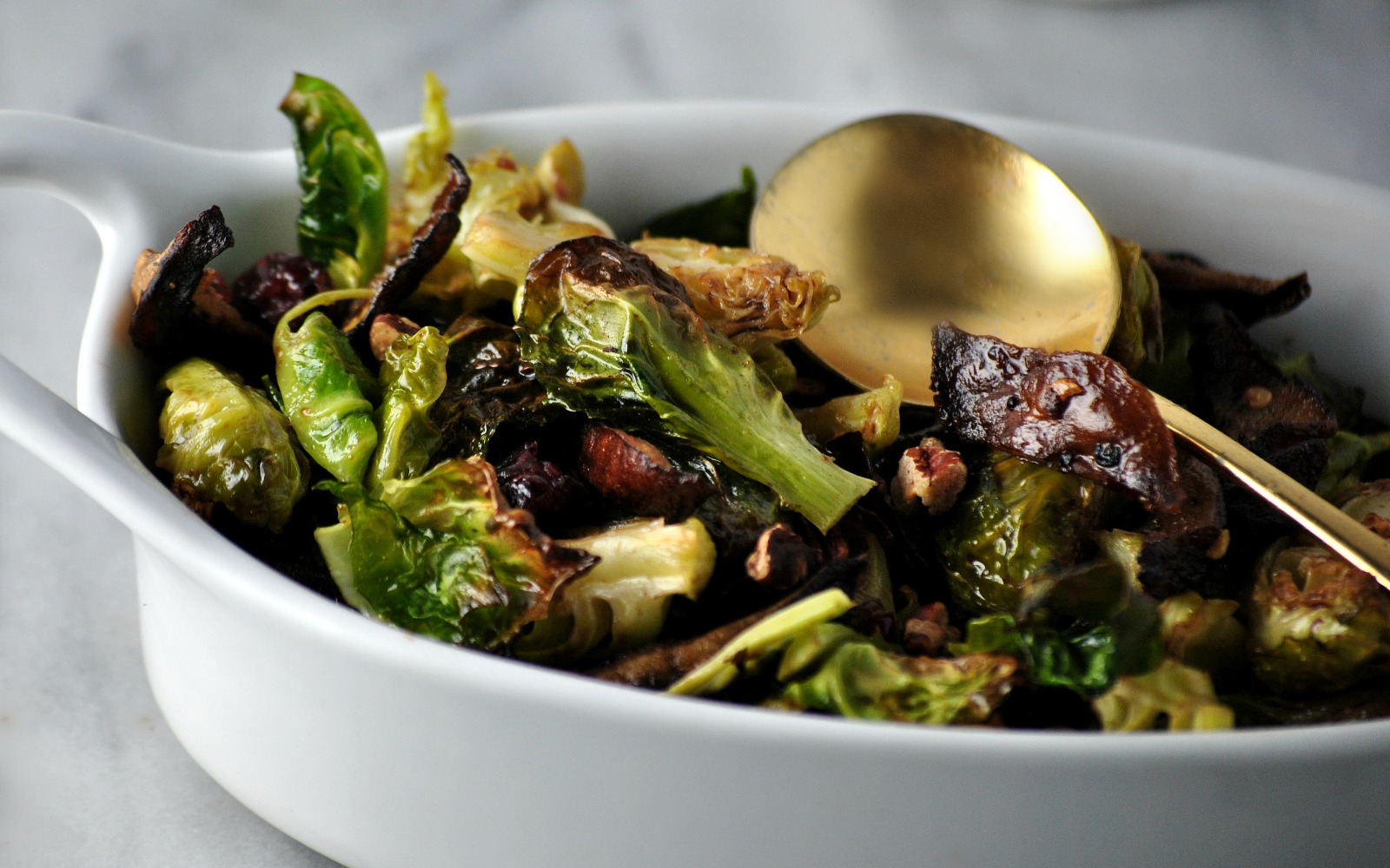 Brussels Sprouts With Shiitake Bacon b