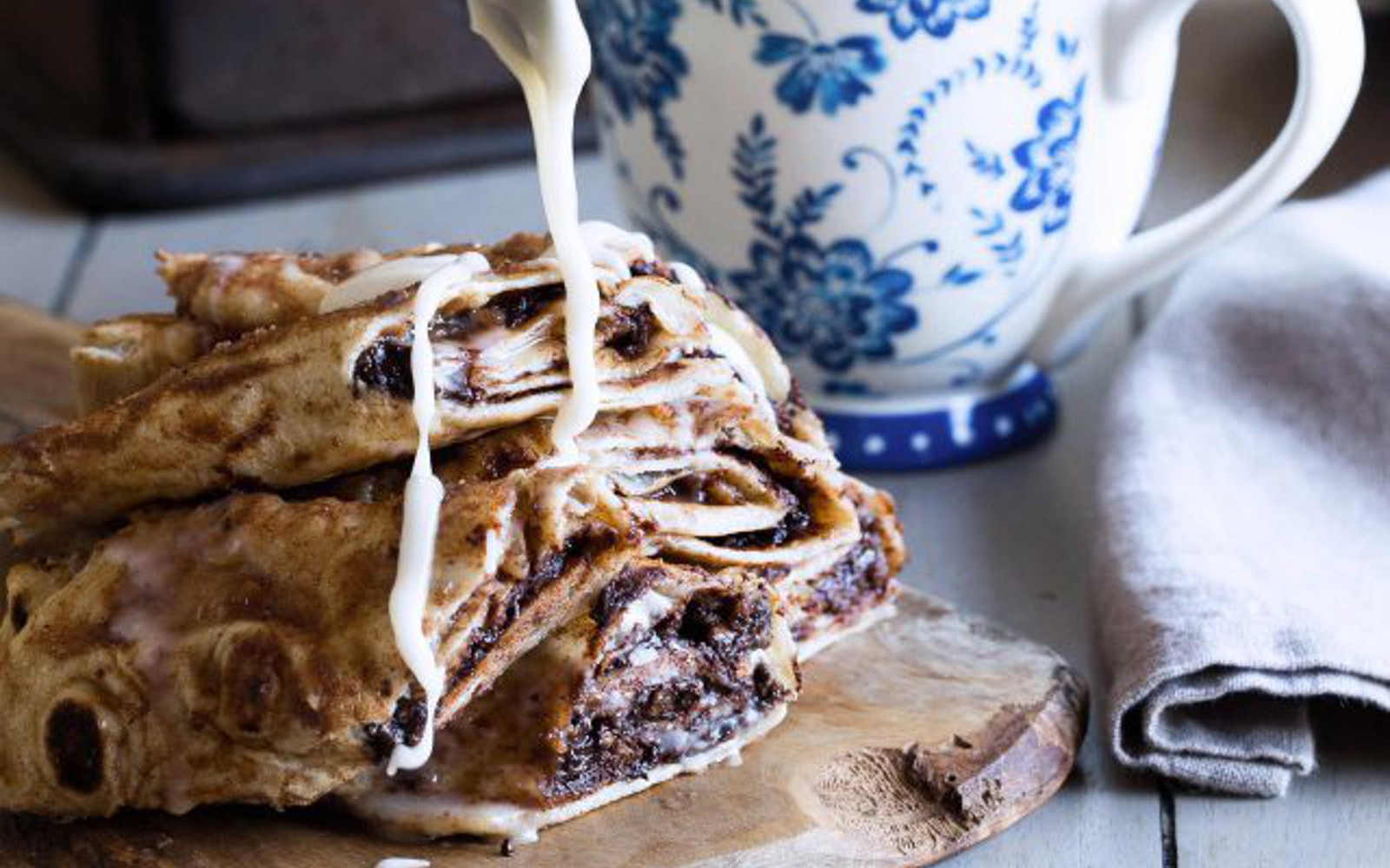 Chocolatey Cinnamon Rolls in Tortillas