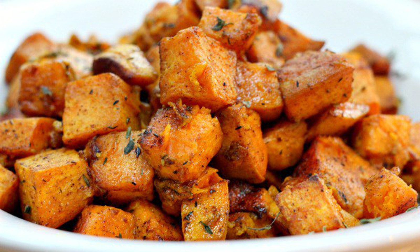 Cinnamon Turmeric Sweet Potatoes