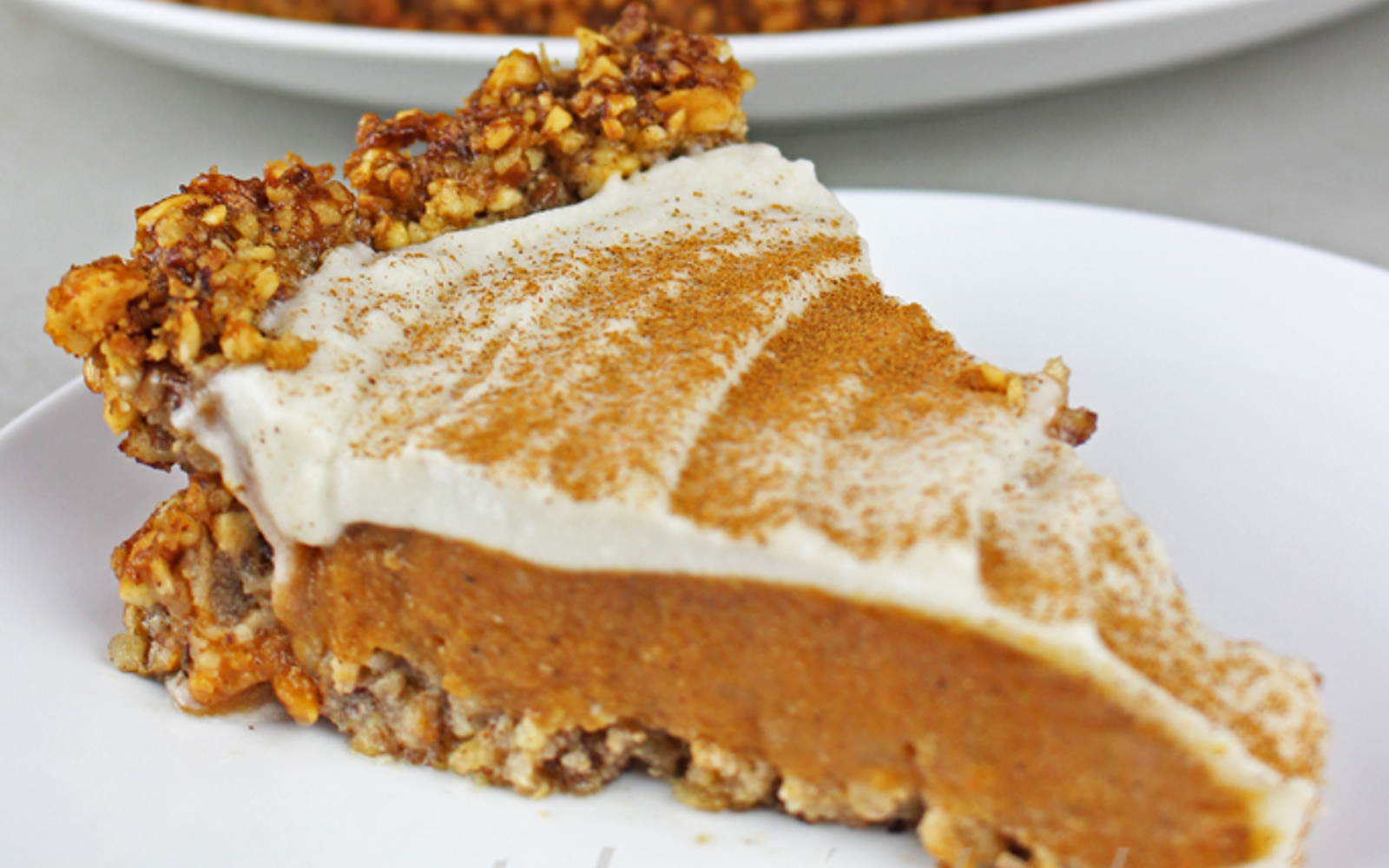 Pumpkin Pie With Cinnamon Nut Crust