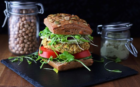 Chickpea Burger With Avocado Mayo b