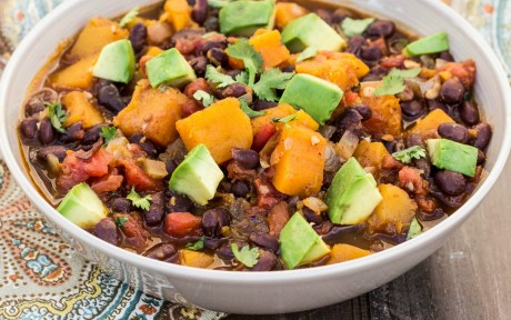 Butternut Squash and Black Bean Chili [Vegan, Gluten Free]