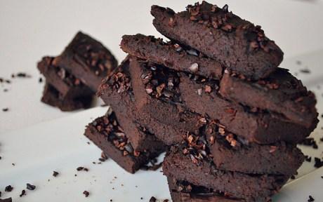 Avocado Black Bean Flourless Brownies