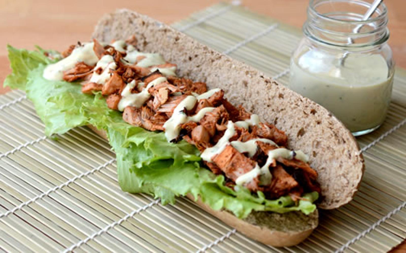 Vegan Cajun-Spiced Jackfruit Sandwiches