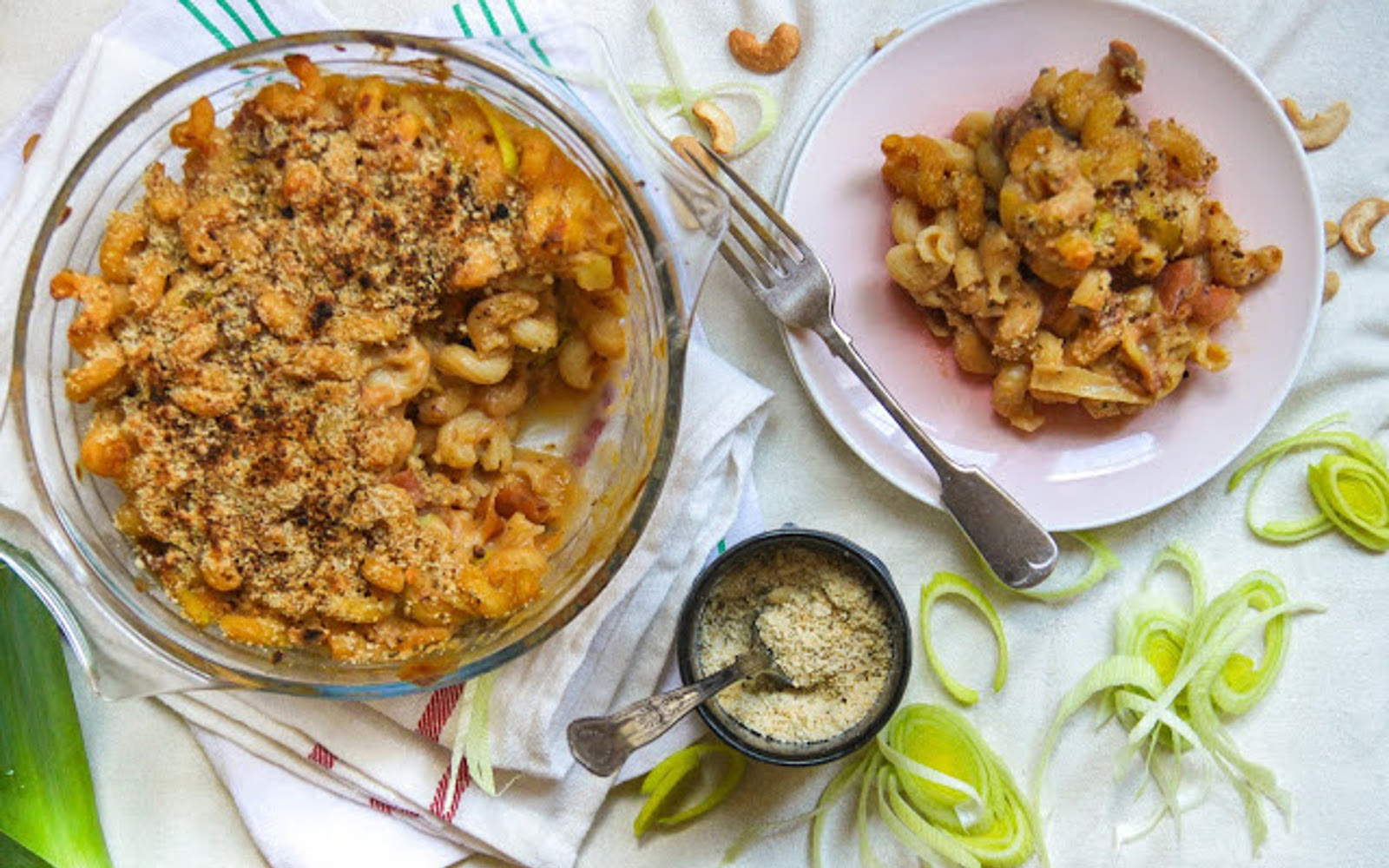 Leek and Smoked Carrot Mac and Cheese