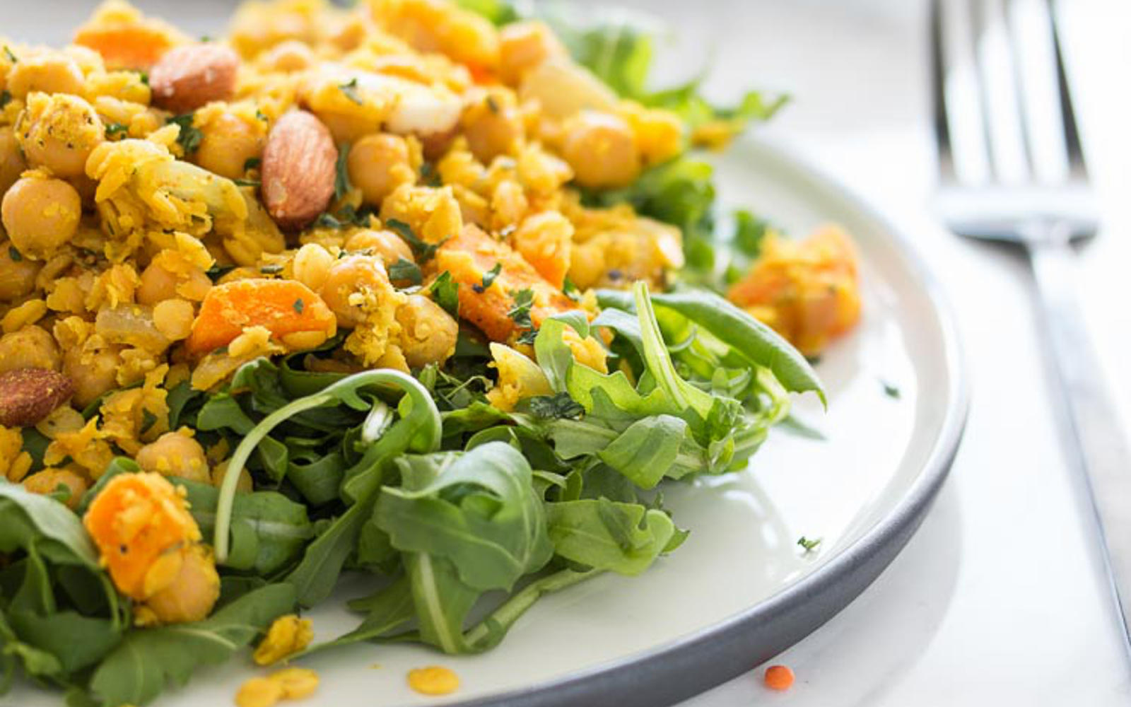 Quick Curried Lentils With Carrots and Chickpeas b