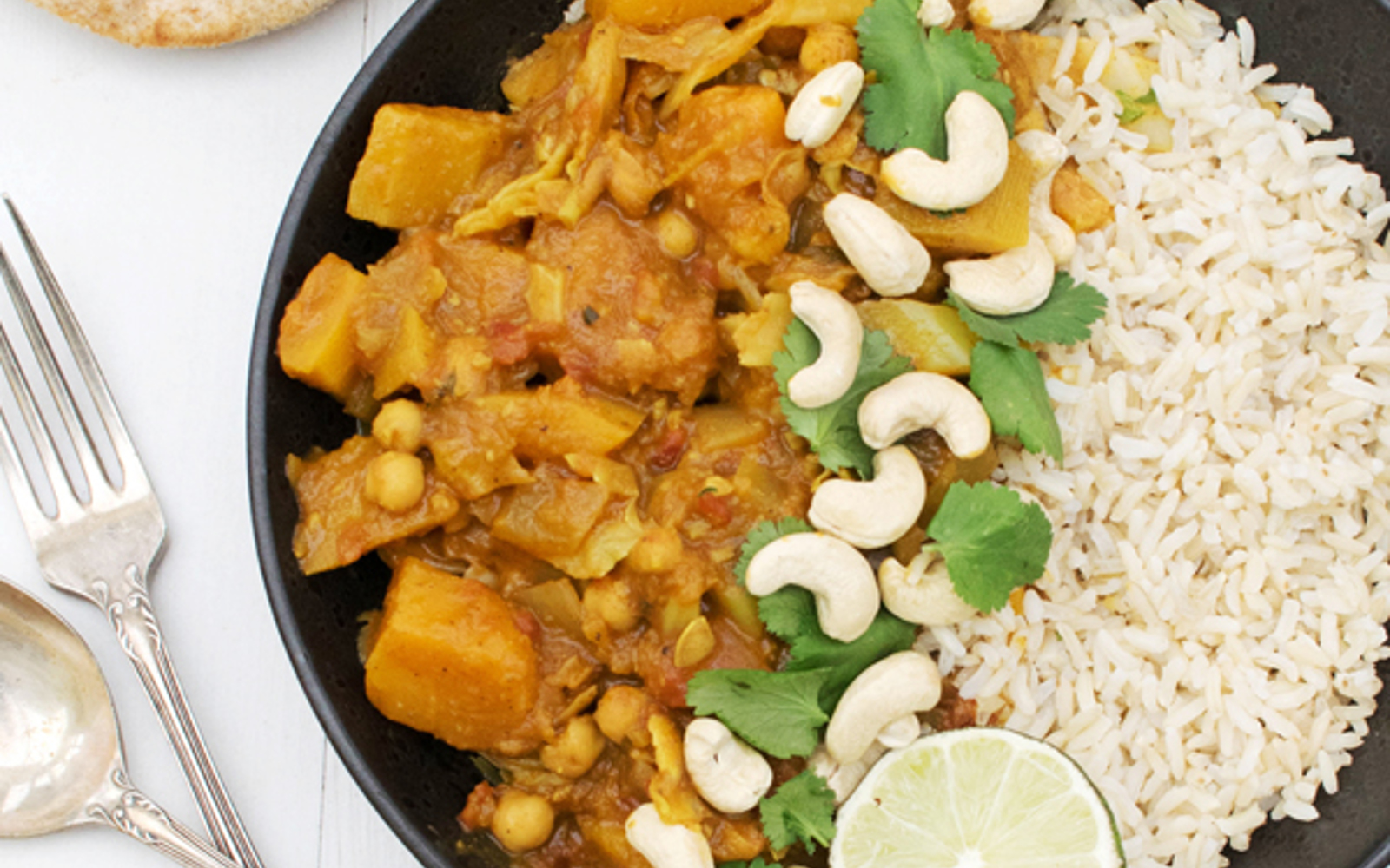 Vegan Butternut and Cabbage Mild Curry