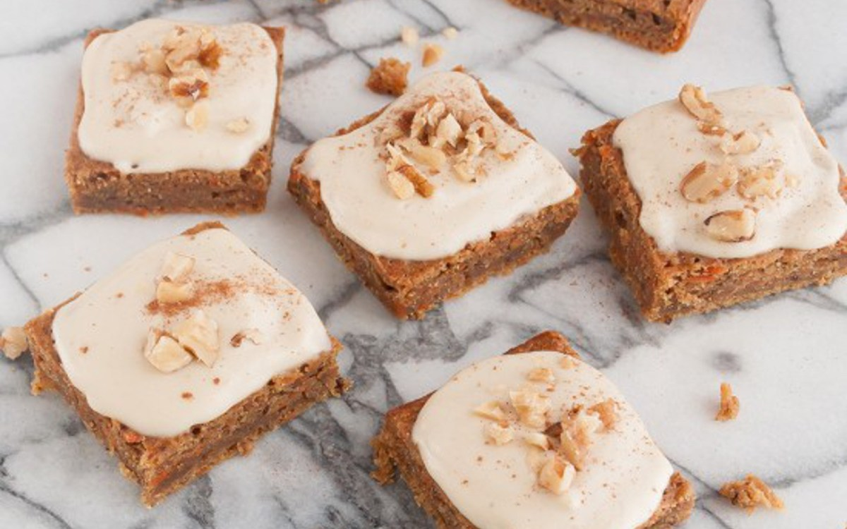 Carrot Zucchini Squares With Cashew Maple Frosting