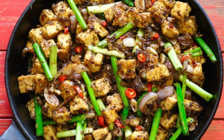 Spicy Black Pepper Tofu
