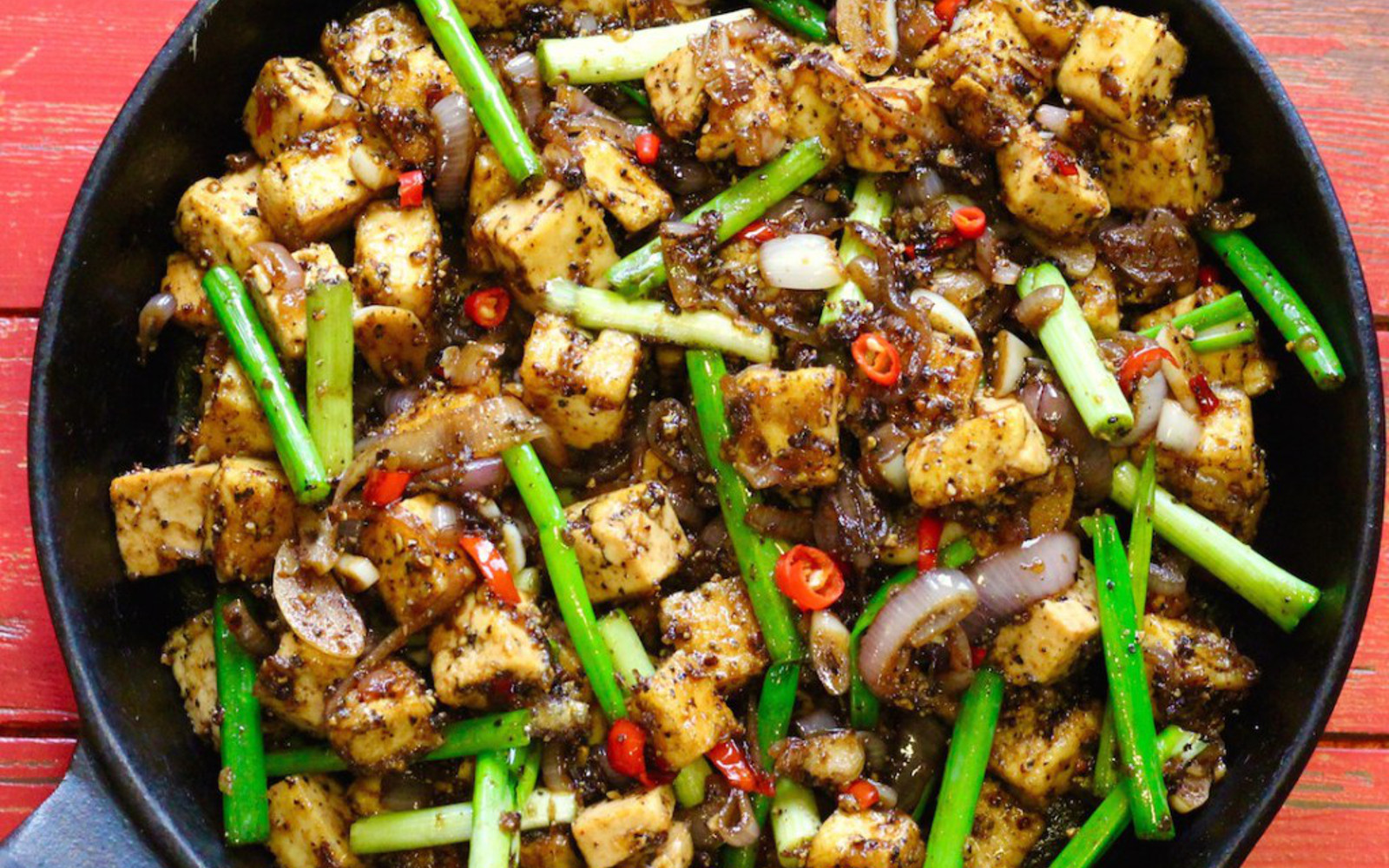 Vegan Spicy Black Pepper Tofu