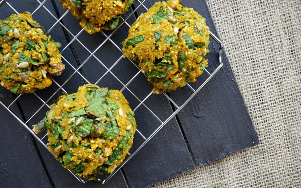 Baked Spinach and Bulgur Veggie Balls