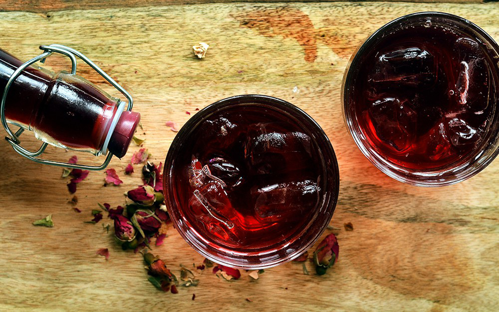Hibiscus and Rose Cordial