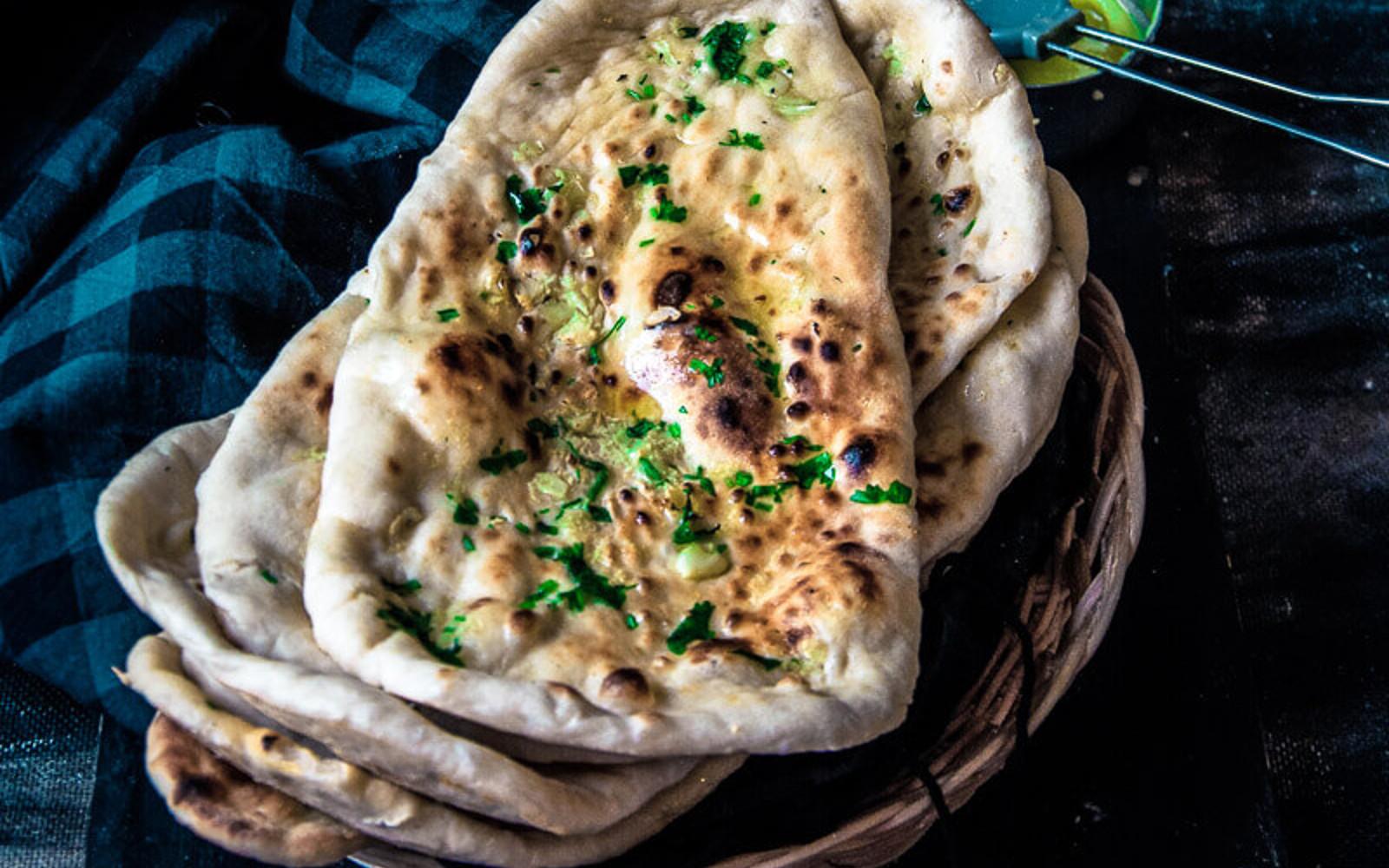 Vegan Restaurant-Style Garlic Naan