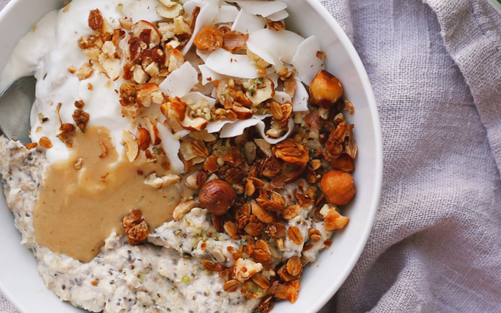 Roasted Cauliflower and Coconut Overnight Porridge Pots